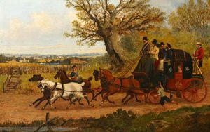 Samuel Henry Gordon Alken - The Chester To London Mail Coach