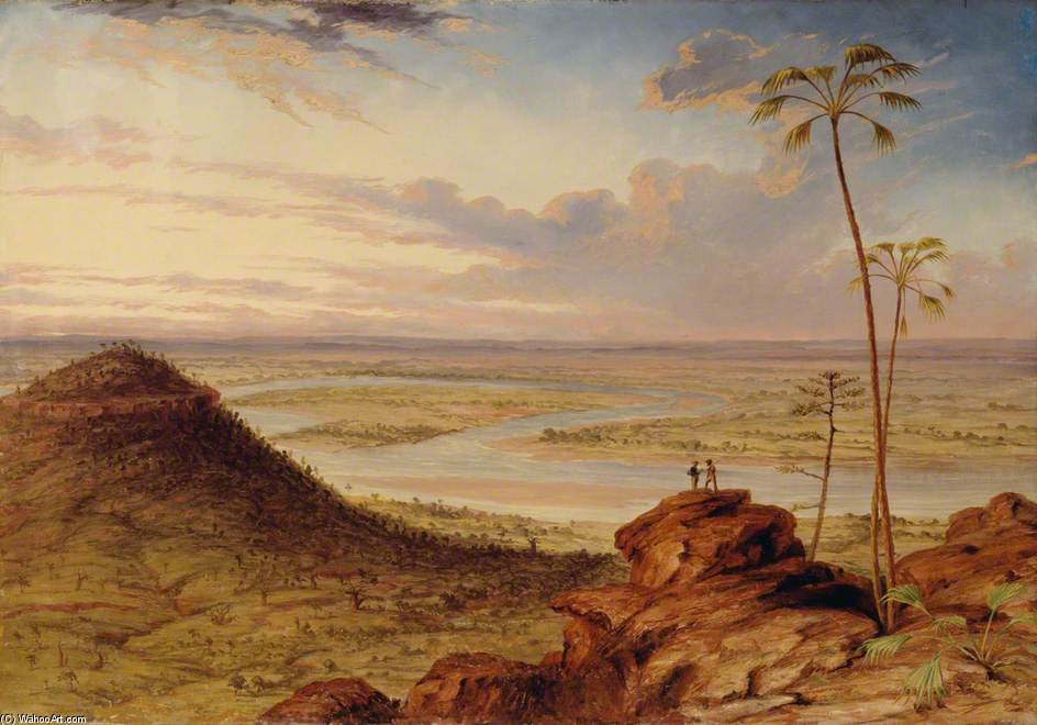 A Bend In The Victoria River, North Australia by Thomas Baines (1820-1875, United Kingdom)