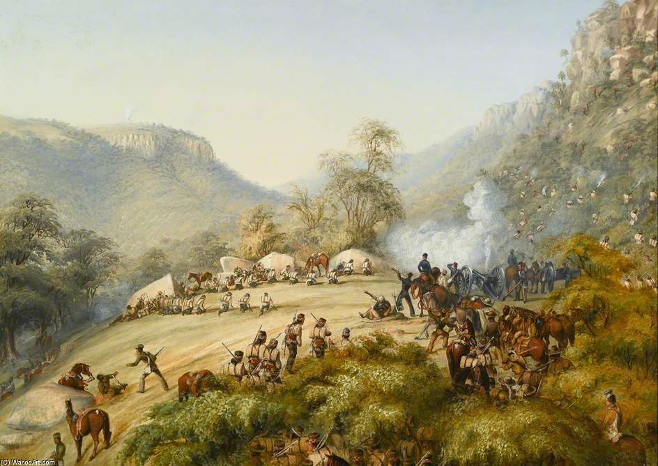 The 74th Above Waterkloof by Thomas Baines (1820-1875, United Kingdom)