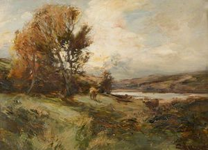 William Bradley Lamond - Landscape With Cattle