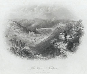 William Henry Bartlett - The Vale Of Tintern, From The Devil's Pulpit
