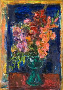 William Mactaggart - Flowers In A Vase -