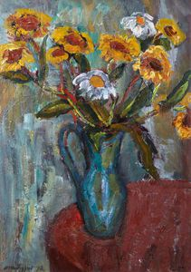 William Mactaggart - Some Yellow Flowers