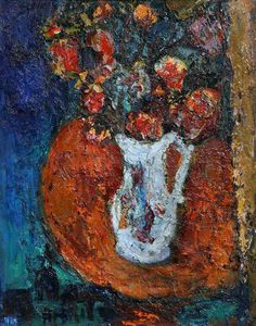 William Mactaggart - Still Life Of Flowers In A White Jug