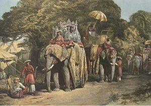 William Simpson - Pheel Khan, Or Elephants' Quarters, Holcar's Camp