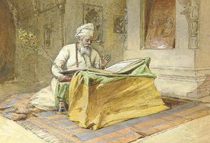 William Simpson - Sikh Priest Reading The Granth, Amritsar