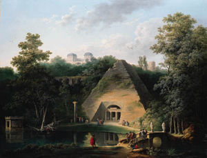 Claude Louis Chatelet - The Pyramid At The Chateau De Maupertuis