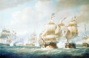 Nicholas Pocock - Destruction Of The French Squadron Of Admiral Leissegues At Santo-domingo