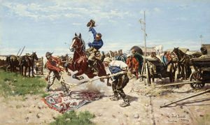 Jozef Brandt - Cossacks At Play
