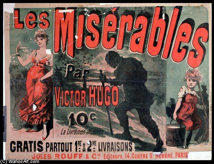Oster Advertising The Publication Of `les Miserables` by Jules Cheret (1836-1932, France) | Museum Quality Reproductions | WahooArt.com