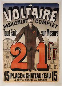 Jules Cheret - Poster Advertising -a Voltaire-