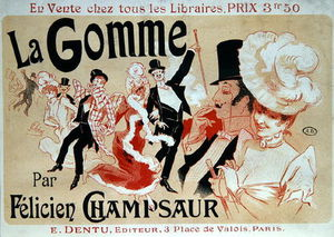 Jules Cheret - Poster Advertising The Novel 'la Gomme'