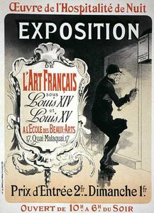 Jules Cheret - Reproduction Of A Poster Advertising An 'exhibition'
