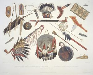 Karl Bodmer - Indian Utensils And Arms -