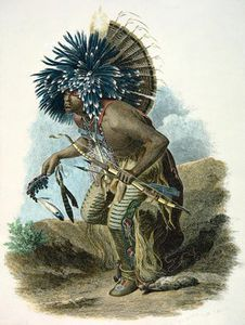 Karl Bodmer - Medicine Man Of The Mandan Tribe In The Costume