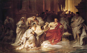 Karl Theodor Von Piloty - The Murder Of Caesar