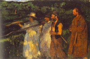 Karoly Ferenczy - Woodsmen Returning Home