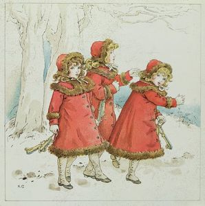 Kate Greenaway - -winter- From April Baby-s Book Of Tunes