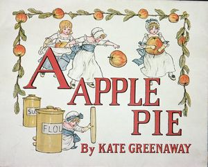 Kate Greenaway - Illustration For The Letter 'a' From 'apple Pie