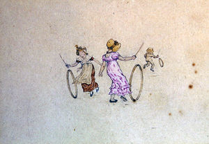 Kate Greenaway - March Illustration For The Almanac