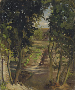 Konstantin Somov - Landscape With Trees