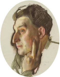 Konstantin Somov - Portrait Of M.G. Lukianov In Profile