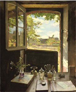 Konstantin Somov - View Through A Window