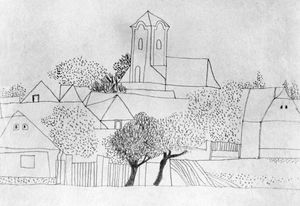 Lajos Vajda - Churches, Trees, Dotted Forms