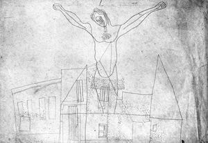Lajos Vajda - Crucifix Above The Houses