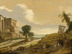 Lambert Jacobszoon - Joseph's Brothers On The Road From Egypt