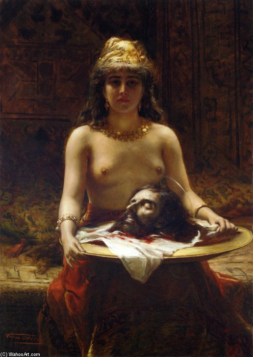 Salome by Leon Herbo (1850-1907, Belgium) | Painting Copy | WahooArt.com