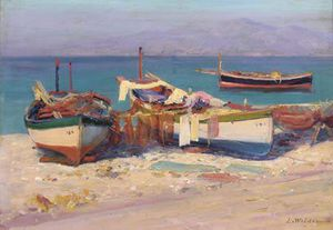 Lionel Walden - Fishing Boats Onshore