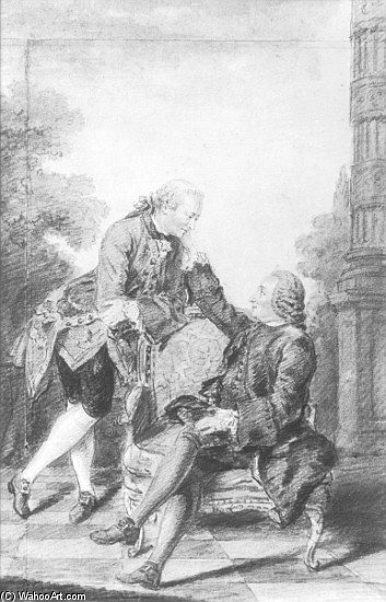 Nis Diderot And Melchior, 1713 by Louis (Carrogis) De Carmontelle (1717-1806, Austria)