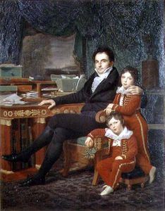 Louis Hersent - Casimir Perier And His Two Sons