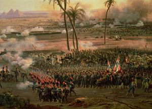 Order Reproductions | The Battle Of The Pyramids, 21 July, 1806 by Louis François Baron Lejeune (1775-1848) | WahooArt.com