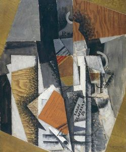Louis Marcoussis (Ludwik Markus) - The Bottle Of Whisky And The Pack Of Scaferlati