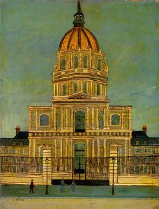 Order Famous Paintings Reproductions : Les Invalides by Louis Vivin (1861-1936, France) | WahooArt.com