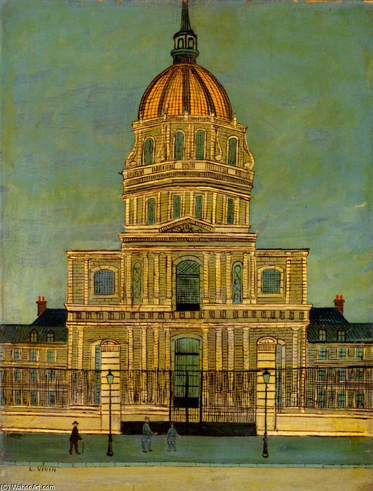 Les Invalides by Louis Vivin (1861-1936, France) | Museum Art Reproductions Louis Vivin | WahooArt.com