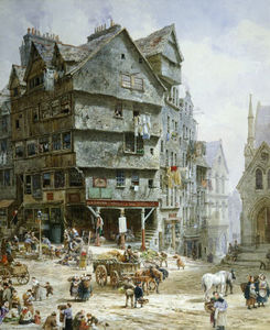 Louise Rayner - The High Street From The West Bow, Edinburgh -