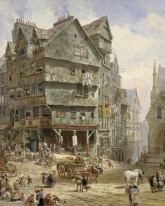 Louise Rayner - The High Street From The West Bow, Edinburgh