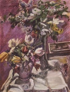 Lovis Corinth (Franz Heinrich Louis) - Lilac And Tulips