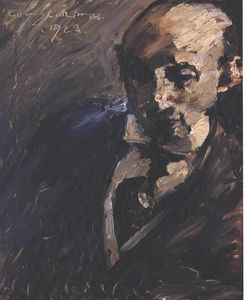 Order Art Reproduction : Portrait Dr. Alfred Kuhn by Lovis Corinth (Franz Heinrich Louis) (1858-1925, Netherlands) | WahooArt.com