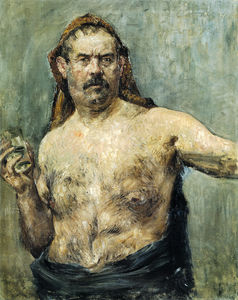 Lovis Corinth (Franz Heinrich Louis) - Self-portrait With Glass