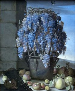 Luca Forte - Still Life With Grapes And Other Fruits