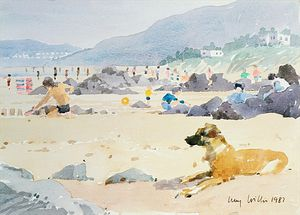 Lucy Willis - Dog On The Beach, Woolacombe