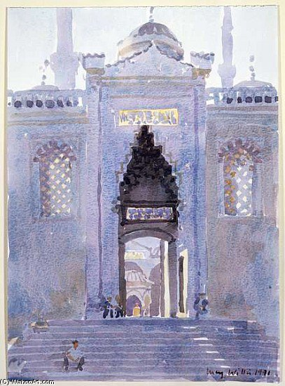 Gateway To The Blue Mosque by Lucy Willis