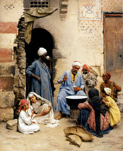 Ludwig Deutsch - The Sahleb Vendor, Cairo
