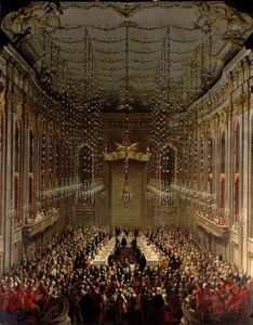 Martin Ii Mytens - Banquet In The Redoutensaal, Vienna,