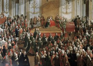 Martin Ii Mytens - Maria Theresa At The Investiture Of The Order Of St