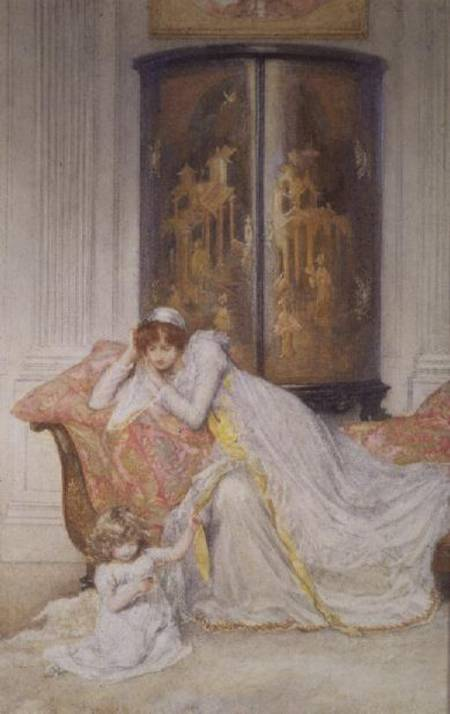 Mother And Child - by Mary L Gow (1851-1929, United Kingdom) | Paintings Reproductions Mary L Gow | WahooArt.com